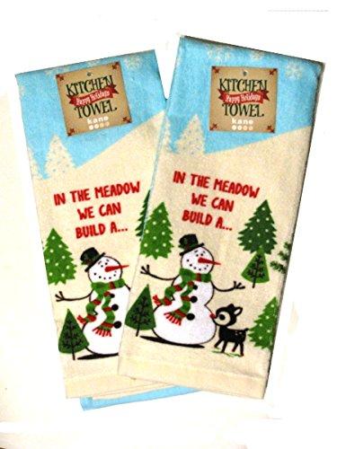 We Can Build a Snowman Cotton Kitchen Towel Set 16 x 26