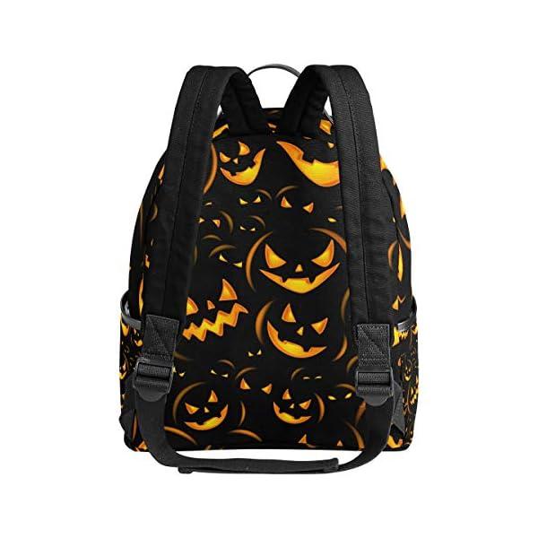 Halloween zucca nero zaino spaventoso per donne adolescenti ragazze borsa alla moda borsa libreria bambini viaggio… 3 spesavip