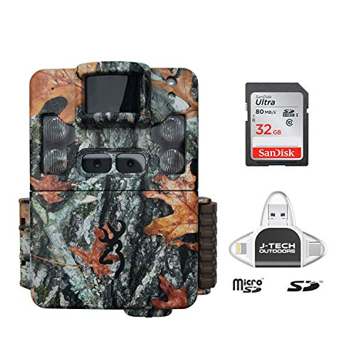 Browning Strike Force PRO XD Trail Game Camera (24MP) with 32GB Memory Card and J-TECH iPhone/iPad/Android/PC USB Memory Card Reader | BTC5PXD (Game Camera Strike Force)