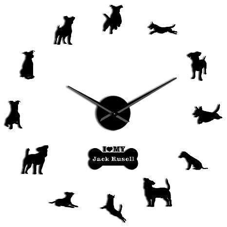 Amazon.com: GZGJ Fox - Reloj de pared con diseño de gato de ...