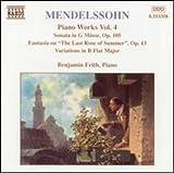 Mendelssohn: Sonata In G Minor / Fantasia, Op. 15