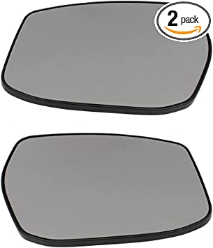 Passengers Side View Mirror Glass /& Base Heated Replacement for 13-18 Nissan Sentra Altima 4-Door Sedan ONLY 963653TH3A NI1325107