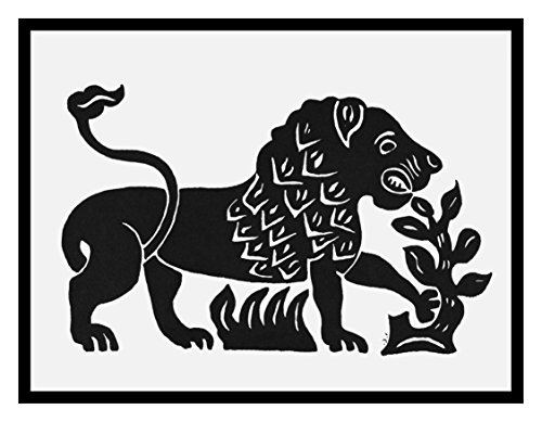 Orenco Originals Russian Folk Art Animal Lion Issachar BER Ryback's Counted Cross Stitch Pattern