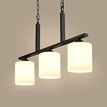 Retro Rustikal Pendelleuchte 3 Flg Vintage Eisen Esszimmer Lampe Mit