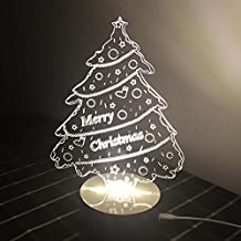 Ancaixin Christmas Tree 3D Optical Illusion Lamp Nightlight USB Touch button LED Desk Table Warm Light