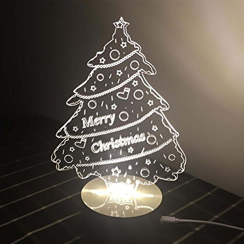 Comics+3D+Night+Lamp+ Products : Ancaixin Christmas Tree 3D Optical Illusion Lamp Nightlight USB Touch button LED Desk Table Warm Light