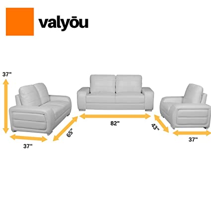 Hawaii Delivery 3 PCS Modern Sofa Set In White Leather Couch For Living