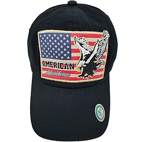 a5c927cd15a MrKap USA American Flag Patch Baseball Cap Men Women Mesh Hat - Black -  Adjustable  Amazon.co.uk  Clothing
