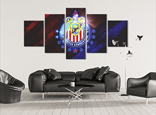 Chivas de Guadalajara Fùtbol Sports Canvas || Modern Wall Art - Hand Made In The US - Framed And Ready To Hang by Canvas Kings