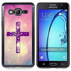 """Pulsar Snap-on Series Teléfono Carcasa Funda Case Caso para Samsung Galaxy On5 O5 , Cristo Nieve Rosa Púrpura Dios Religiosa"""""""