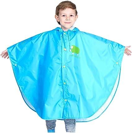 Bambino Impermeabile Unisex Leggero Poncho Cappotto di Pioggia Riutilizzabile Giacche da Pioggia Carino Mantella Antipioggia Impermeabile
