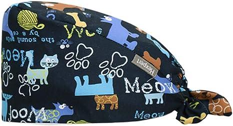 Fancy Pumpkin Patrón Creativo Exfoliante quirúrgico Gorro médico Enfermera Enfermera Gorro de Belleza para Unisex, M-11: Amazon.es: Deportes y aire libre