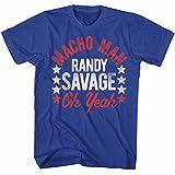 American Classics Macho Man 1980's WWF Heavyweight Wrestler Roots of Macho 2 Adult T-Shirt Tee