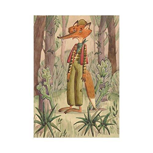 WAZZIT Fairy Fox in Woods Polyester Garden Flag 28 x 40 inch