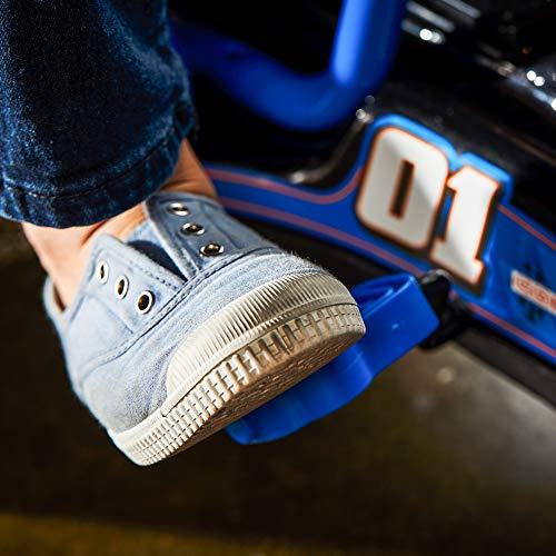 51Bsdf K4wL - Huffy 17197P 6V 2 in 1 Ride On Car for Kids, Flat Kart Toy, Blue