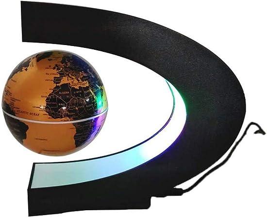 Globi levitanti novit/à Levitazione Magnetica Rotonda Elettronica Globo Galleggiante di galleggiamento Globo Galleggiante con Luce a LED Spina Blu Americana Caredy Globo Galleggiante di levitazione