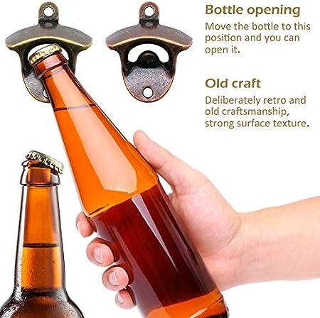 Abrebotellas de Pared, Diseño Retro Resalta La Personalidad de Decoración del Pub (4 piezas)