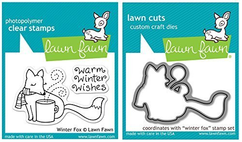 Lawn Fawn - Winter Fox - Clear Stamp and Die Set
