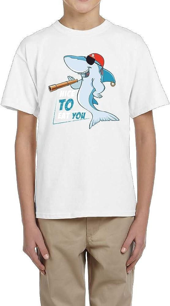 Nice To Eat You Youth Crew Short Sleeve Of Tee For Boys Fzjy Wnx Sharks