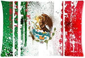 Mexico Flag Cotton Pillow Case Cover Standard Size 20x30 inch (one side)