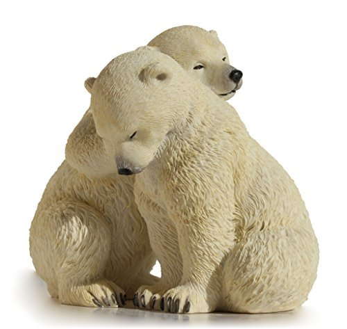 5.5 Inch Animal Figurine Two Polar Bear Cubs Collectible Display