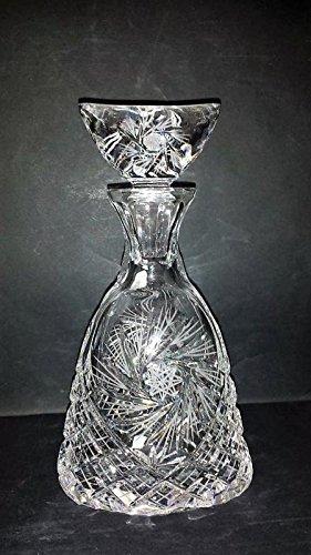 Cristal de Bohemia Tallado Luna creciente – Botella de whisky coñac cristal de Bohemia