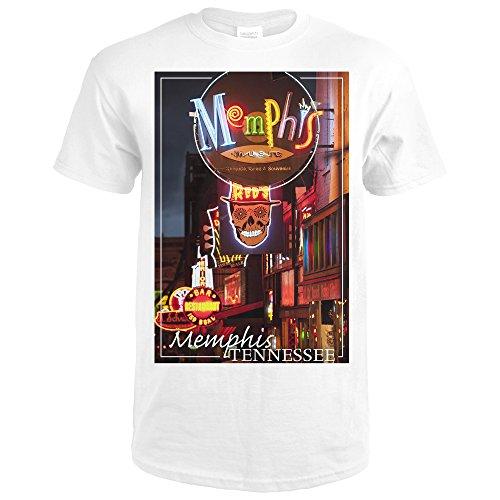 Memphis, Tennesseee - Beale Street (Premium White T-Shirt Large)