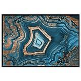 """The Oliver Gal Artist Co. Soñando con usted Geode 'enmarcado Fashion Wall Art, 36 """"x 24"""", azul"""