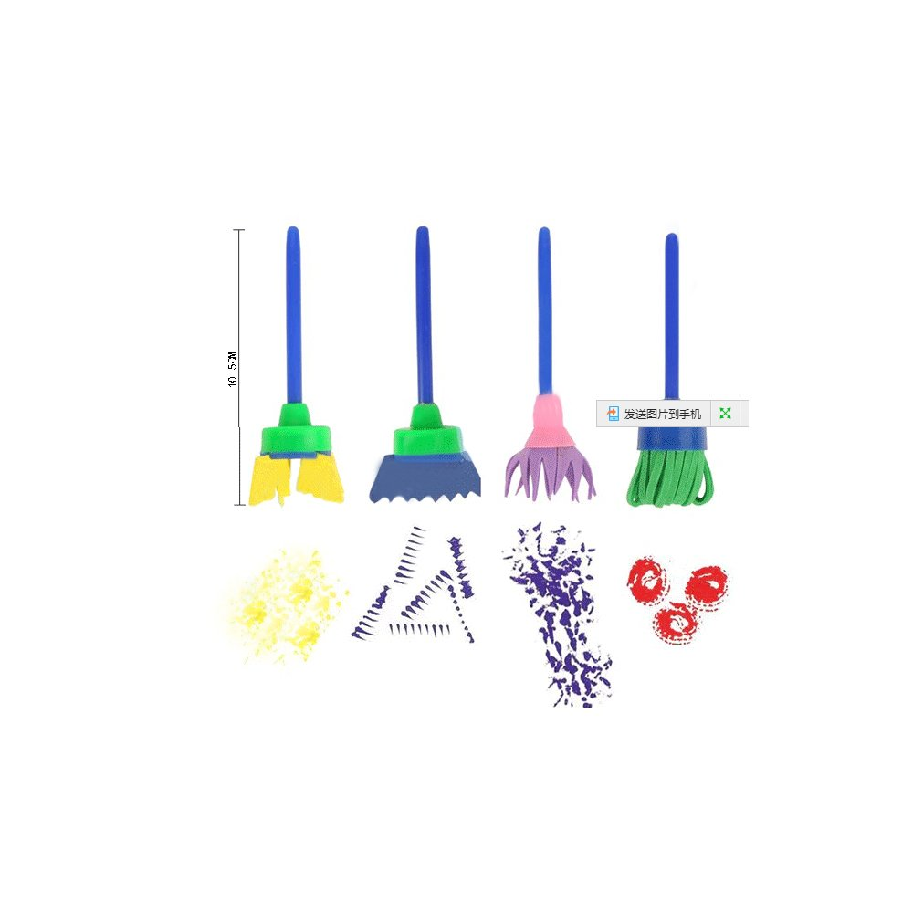 18Pcs Sponge Painting Brushes Art Supplies Set Childen Waterproof Aprons with Palette,Smock and Rollers Brush DIY Craft Drawing Tool Painting Tools for Kids