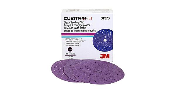 3M 31373 Cubitron II Clean Sanding Hook Disc grade Purple Abrasive 6 inch 150