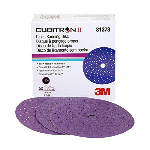 Cubitron II 31373 Clean Sanding Hookit Abrasive Disc (6 in, 150+, 50 Discs per Box)