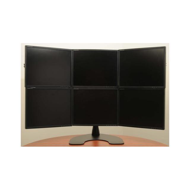 Ergotech Hex 3 Over 3 LCD Monitor Desk Stand (100 D28 B33)