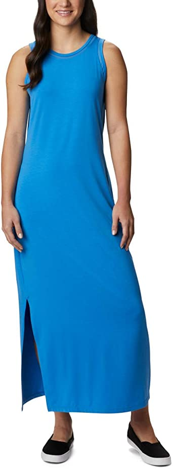 Columbia Womens Slack Water Knit Maxi Dress Moisture Wicking Sun Protection