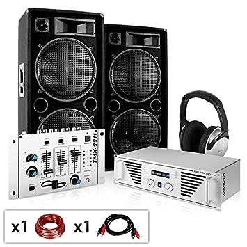 PA Komplett-Set N.Y. Fireblade 2000 Watt Party-Musikanlage mit 1600 Watt  Verstärker 15e0653387f7f