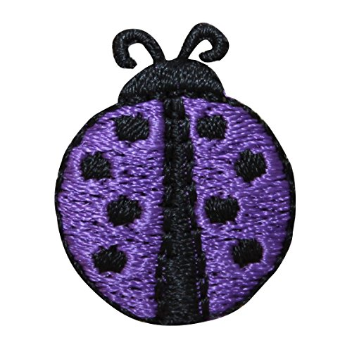 (ID 1609C Ladybug Symbol Patch Spotted Garden Insect Embroidered Iron On Applique)
