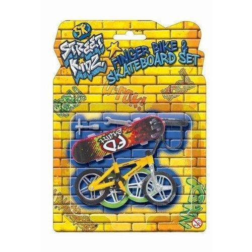 2 X Die Cast Toy Set Finger Bike & Board Skateboard Skate Die-cast Accessories Set KT