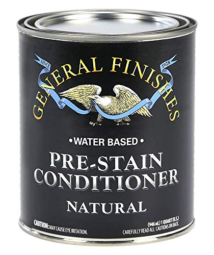 (General Finishes WNQT Water Based Wood Stain, 1 Quart, Natural)