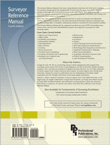Surveyor Reference Manual 4th Ed Amazon Co Uk Andrew L Harbin