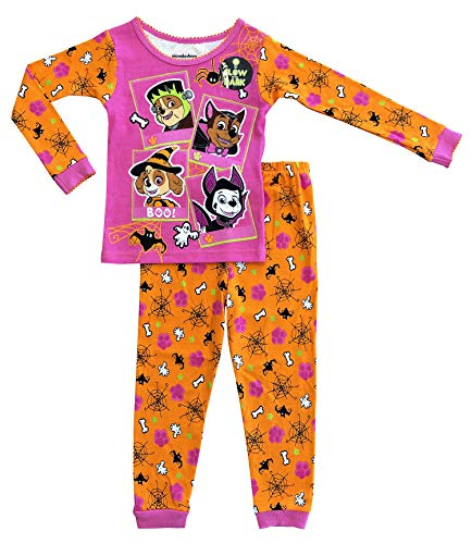 Nickelodeon Paw Patrol Little Girls Toddler Halloween Pajama Set (4T, Pink) -