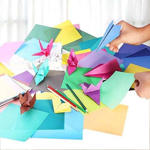 Origami Feuilles Carrées Dorigami Papier Coloré Pour Bricolage