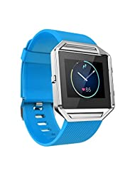 Fitbit Blaze Replacement Band, TOOPOOT Soft Silicone Watch Strap For Fitbit Blaze Smart Watch (blue)