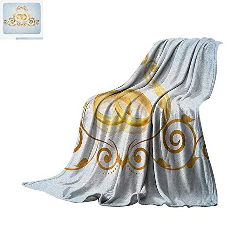 - Wedding Throw Blanket Vintage Style Victorian Ornaments on Blue Backdrop Rings Classical Celebration Print Artwork Image 60