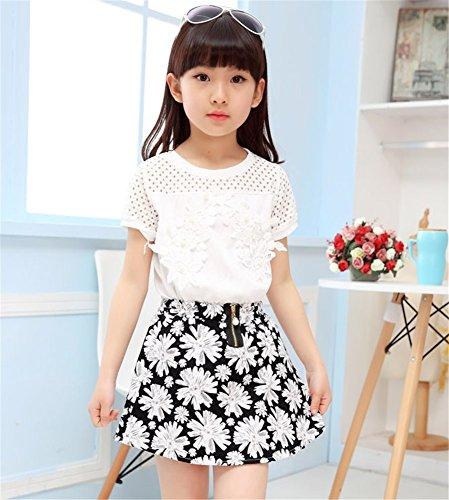 Jual 2PCS Toddler Kids Baby Girls Lace Shirt Tops Tutu Skirt Dress ... 1ffa89e4a
