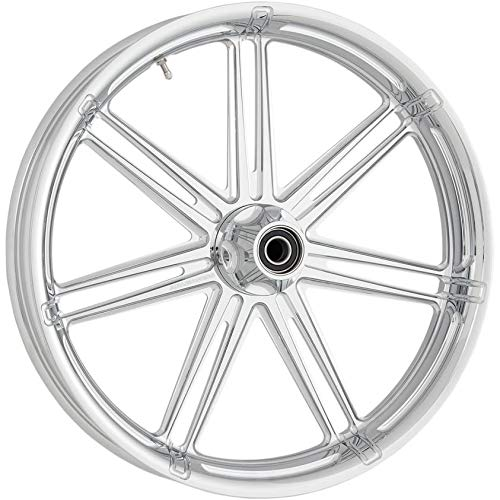 Arlen Ness 10302-204.6010 Forged Aluminum Front Wheel - Single Disc ABS - 21in. 3.50in. - 7 Valve Chrome ()