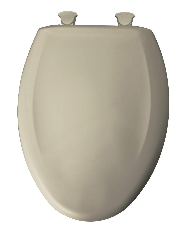 Parchment Bemis 1200SLOWT 046 Slow Sta-Tite Elongated Closed Front Toilet Seat 1 Clauss