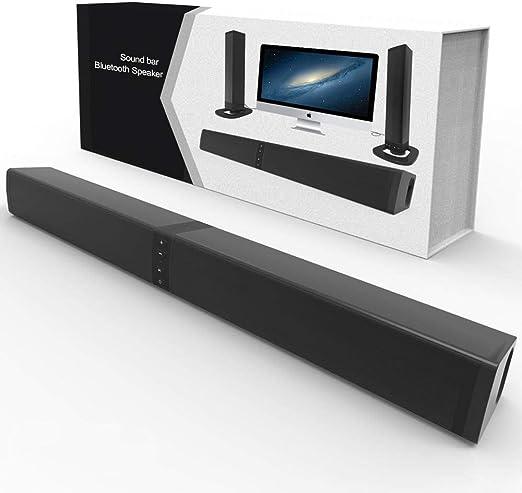 WNZL Barra de Sonido, 2.0 Home Theater System, Altavoz Bluetooth de Sonido Desmontable Altavoz inalámbrico portátil 20W Altavoz de Alta Potencia para la TV/Celular/Tablet: Amazon.es: Hogar