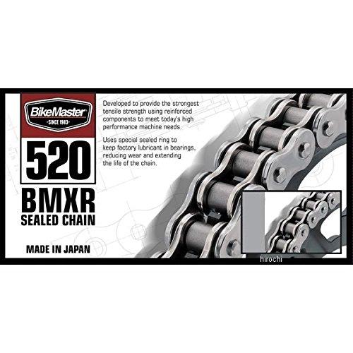 バイクマスター BikeMaster チェーン 520BMXR シールチェーン 黒/クローム 130L クリップ/カシメ 197333 520BMXR-130/BC   B01NAANG05