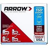 Arrow Fastener 508IP Genuine T50 1/2-Inch Staples, 5,000-Pack