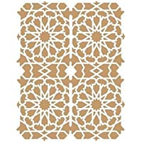 TODO-STENCIL Deco Fondo 029 Celosía Árabe. Medidas aproximadas: