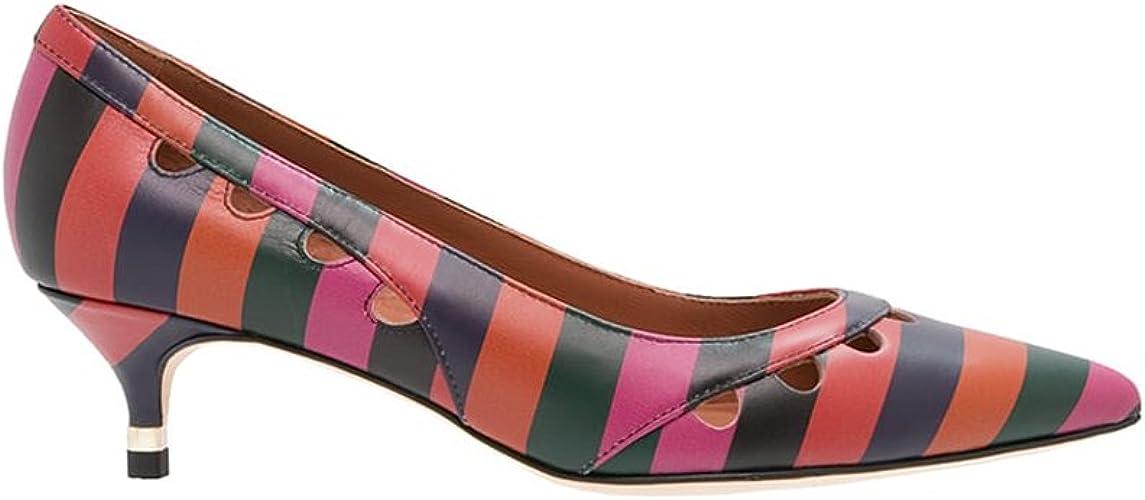 Abete Striped Kitten Heels, Multicolor